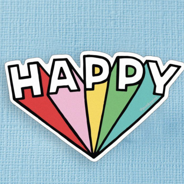 Happy XL Sticker