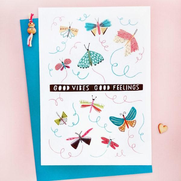 Good Vibes Good Feelings Ansichtkaart