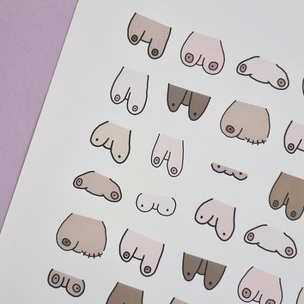 Boobies print