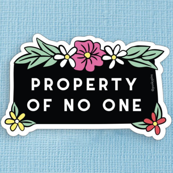 Property of No-One Sticker