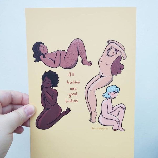 all bodies are good bodies print A5