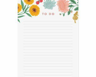 Bloemen A5 Notepad – B Keuze